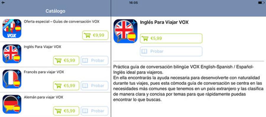 Guías de conversación VOX para viajar