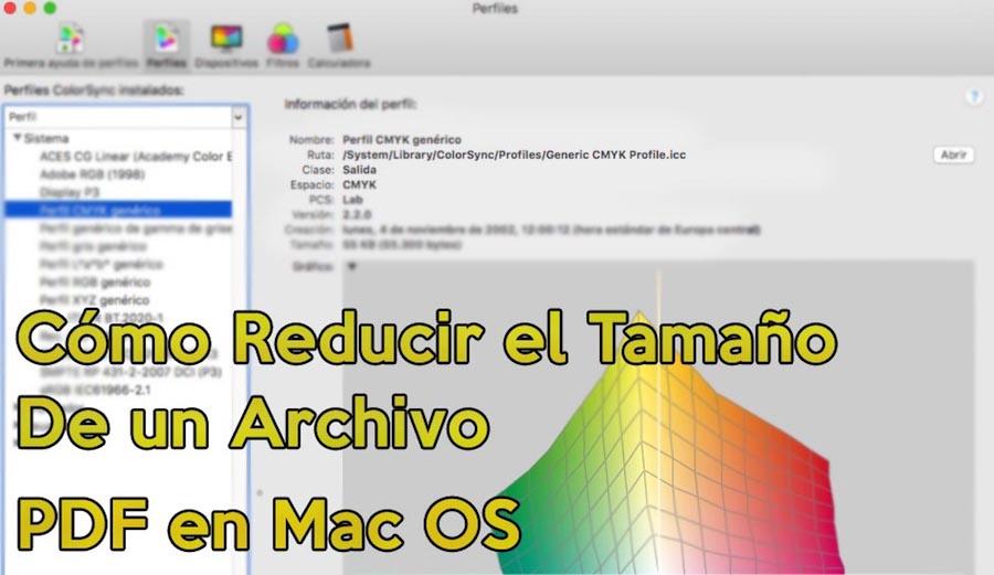 reducir peso de un pdf en mac