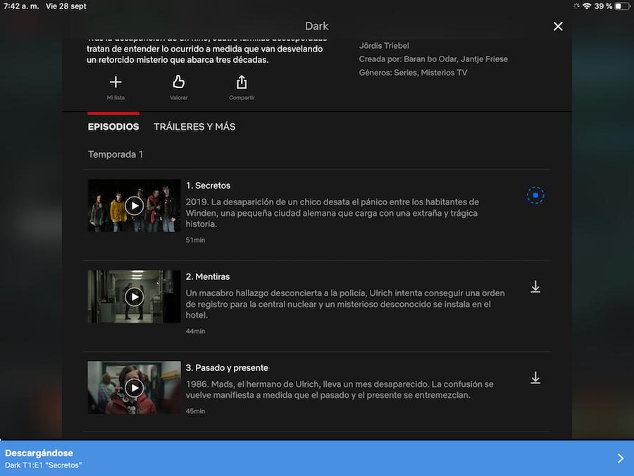 Pasos para descargar y ver contenidos offline en Netflix