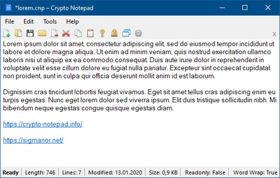 Crypto Notepad